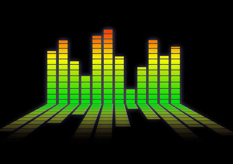 Music bars background